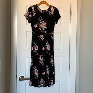 ASOS maternity dress black floral US size 4